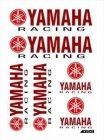 Aufkleberset Yamaha rot/schwarz