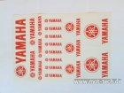 Aufkleberset Yamaha rot